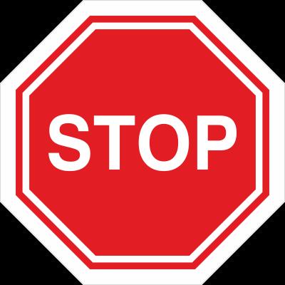 Znak STOP - znak podłogowy