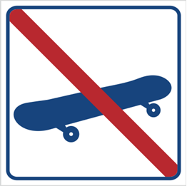 Obrazek dla kategorii Zakaz jazdy na deskorolce (823-19)