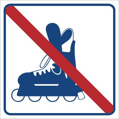 Zakaz jazdy na rolkach (823-20)