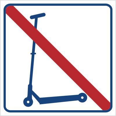 Zakaz jazdy na hulajnodze (823-21)