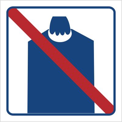 Zakaz wnoszenia podręcznego bagażu (823-44)