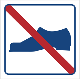 Obrazek dla kategorii Zakaz używania obuwia (823-04)