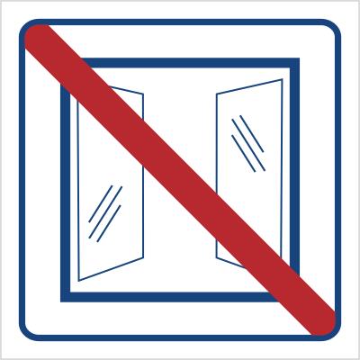 Nie otwierać, obiekt klimatyzowany (823-47)