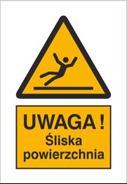 Obrazek dla kategorii Znak Uwaga śliska nawierzchnia - znak podłogowy