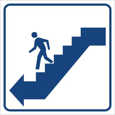 Schody w dół lewo (823-59)