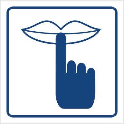 Znak zachowaj ciszę (823-78)
