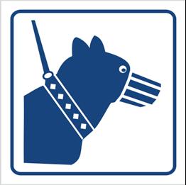 Obrazek dla kategorii Psy wprowadzać tylko na smyczy i w kagańcu (823-91)