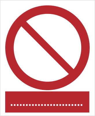 Znak Ogólny zakazu  (601)