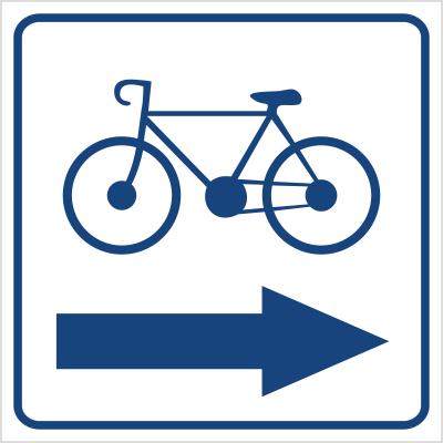 Kierunek ścieżki rowerowej (w prawo) (823-94)