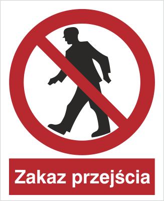 Znak Zakaz przejścia (602)