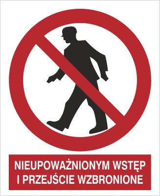Znak Nieupoważnionym wstęp i przejście wzbronione (602 - 02)