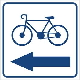 Obrazek dla kategorii Kierunek ścieżki rowerowej (w lewo) (823-95)