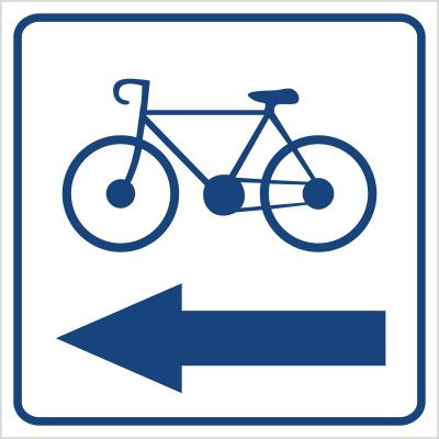 Kierunek ścieżki rowerowej (w lewo) (823-95)