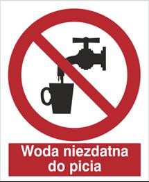 Obrazek dla kategorii Znak Zakaz picia wody (603)