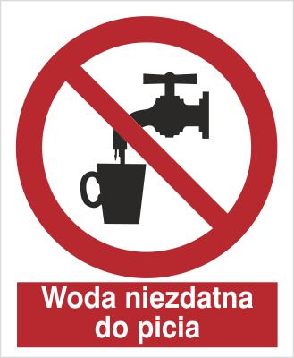 Znak Zakaz picia wody (603)