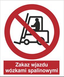 Obrazek dla kategorii Znak Zakaz wjazdu wózkami spalinowymi (604 - 04)