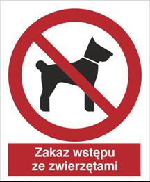 Obrazek dla kategorii Znak Zakaz wstępu ze zwierzętami (605)