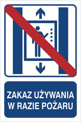 Zakaz używania w razie pożaru (856-03)