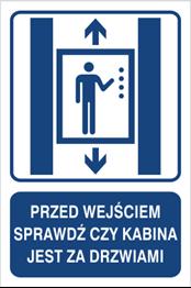 Obrazek dla kategorii Przed wejściem sprawdź czy kabina jest za drzwiami (856-04)