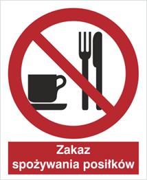 Obrazek dla kategorii Znak Zakaz spożywania posiłków (611)
