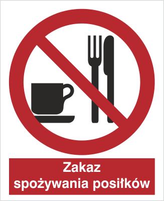 Znak Zakaz spożywania posiłków (611)