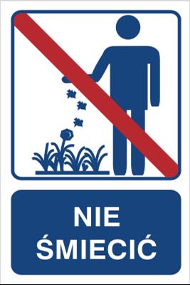 Nie śmiecić (823-101)