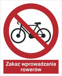 Obrazek dla kategorii Znak Zakaz wprowadzania rowerów (612)