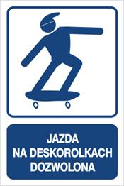 Obrazek dla kategorii Jazda na deskorolkach dozwolona (823-117)