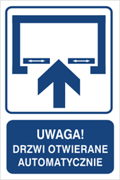 Obrazek dla kategorii Uwaga! Drzwi otwierane automatycznie (823-122)