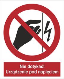 Obrazek dla kategorii Znak Nie dotykać! Urządzenie pod napięciem (624)
