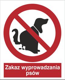 Obrazek dla kategorii Znak Zakaz wyprowadzania psów (633)