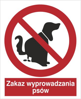 Znak Zakaz wyprowadzania psów (633)