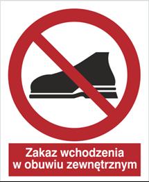 Obrazek dla kategorii Znak Zakaz wchodzenia w obuwiu zewnętrznym (634)