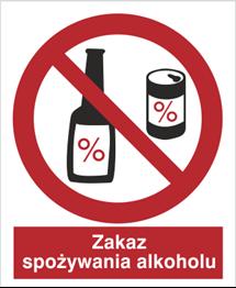 Obrazek dla kategorii Znak Zakaz spożycia alkoholu (637)