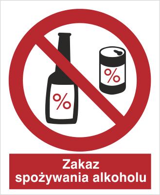 Znak Zakaz spożycia alkoholu (637)