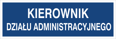 Kierownik działu administracyjnego (801-67)