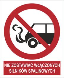 Obrazek dla kategorii Znak Nie zostawiać włączonych silników spalinowych (646)