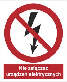 Obrazek dla kategorii Znak Nie załączać urządzeń elektrycznych (647)