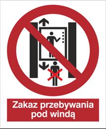 Obrazek dla kategorii Znak Zakaz przebywania pod windą (652)