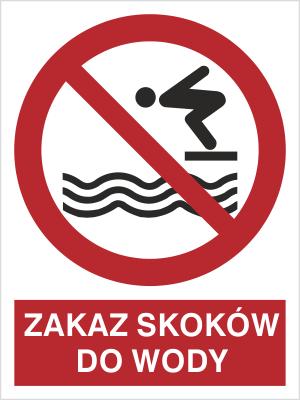 Znak Zakaz skoków do wody (653)
