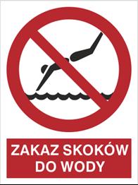 Obrazek dla kategorii Znak Zakaz skoków do wody (654)