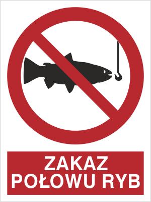 Znak Zakaz połowu ryb (656)