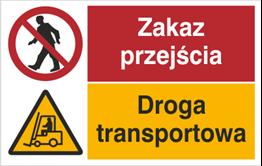 Obrazek dla kategorii Znak Zakaz przjścia. Droga transportowa (520-02)