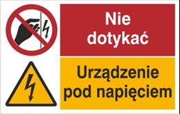 Obrazek dla kategorii Znak Nie dotykać. Urządzenie pod napięciem. (520-09)