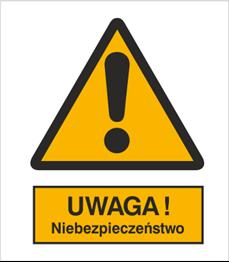 Obrazek dla kategorii Znaki ostrzegawcze BHP z opisem