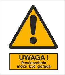 Obrazek dla kategorii Znak Ostrzeżenie przed gorącą powierzchnią (301-01)