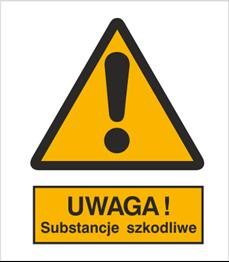 Obrazek dla kategorii Znak Ostrzeżenie przed substancjami szkodliwymi (301-06)