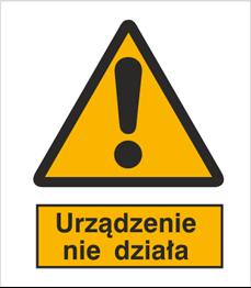 Obrazek dla kategorii Znak Ostrzeżenie przed niedziałającym urządzeniem (301-11)