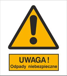 Obrazek dla kategorii Znak Ostrzeżenie przed niebezpiecznymi odpadami (301-14)