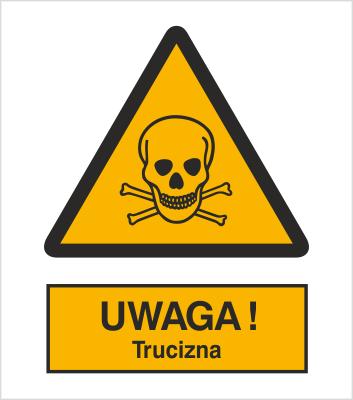Znak Ostrzeżenie przed niebezpieczeństwem zatrucia substancjami toksycznymi (302)